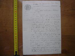 1897 Ancien Acte Manuscrit VEUVE VERROT ALEXIS JOBARD Echange TIL CHATEL 21 - Manoscritti