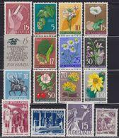 Yugoslavia 1955 Complete Year, MNH (**) Michel 760-775 - Neufs