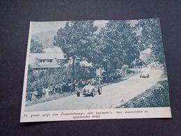 """Origineel Knipsel ( 5821 ) Uit Tijdschrift """" De Stad """"  1937 :   Autokoers  Francorchamps - Old Paper"""