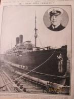 La Grande Guerre  14-18 Le Paquebot Le Prinz  Eitel Freidrich - Old Paper