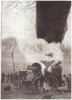 Guerre 14-18   Aerostation Militaire   Ballon Captif Saucisse Gonflage - Old Paper