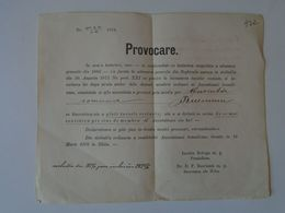 DI.6.7  Romania Hungary  Provocare  Comuna BUCIUMU  Bucium  (Alba) Signature Vrabu  Primaru  1877 ASTRA SIBIU - Historische Dokumente