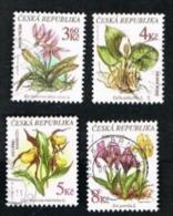 REP. CECA (CZECH REPUBLIC) - SG 150.153  - 1997 ENDANGERED PLANTS  (COMPLET SET OF 4)     -   USED - República Checa