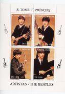 Les Beatles-Guitare-Sao Tome-1996-MI 1718/21***MNH - Zangers