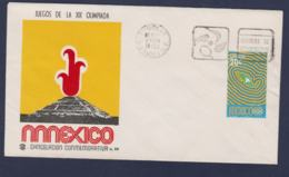 Mexico Cover 1968 Olympic Games In Mexico - Deportes De Demostracion (G114-29) - Summer 1968: Mexico City