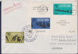 Mexico FDC 1968 Olympic Games In Mexico Souvenir Sheet (G114-29) - Summer 1968: Mexico City