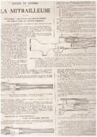 Guerre 14-18 Corps Expeditionnaire D Orient à Marseille Quai De La Joliette + Mitrailleuse  Historique Et Description - Old Paper