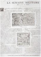 Guerre 14-18 La Semaine  Militaire    1 Au 11 Mars 1915 Region  Vauquois Souchez Varennes   Boureuilles  Lievin + Carte - Old Paper