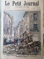 Le Petit Journal Du 22 Mai 1898 Émeutes Milan Hirondelle Insurgés Cubains Cuba - Kranten