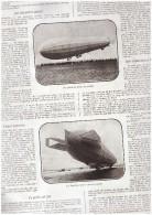 Guerre 14-18 Visite Aux Halles De  Ypres   Ieper + Artle Sur Les Zeppelin Zeppelins - Old Paper