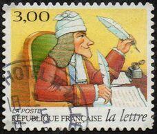 Oblitération Cachet à Date Sur Autoadhésif De France N°   22 Ou 3160 - Journée De La Lettre. L'écrivain Voltaire - Adhesive Stamps