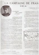 Guerre 14-18 La Bataille De La Marne   Du 6 Au 12 Septembre - Old Paper