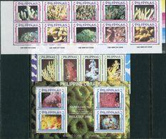 Pilipinas 1994. Michel #2379/88+Bl.#70/71 MNH/Luxe. Marine Life. Native Corals. (Ts15) - Filipinas