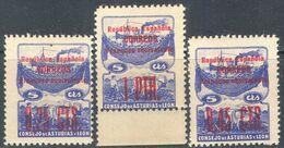 M2835 ✅ Transport Ships Fishing Civil War Optd. Asturia 1937 Spain 3v Set MNH ** 18ME - Emissions Nationalistes