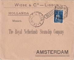 PORTUGAL 1919 LETTRE CENSUREE DE LISBONNE POUR AMSTERDAM - 1910-... République