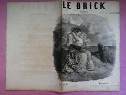 Musique Partition Lithographiée LE BRICK Paroles L. LIZOT Musique SINSOILLIEZ  Illustrateur G. DONJEAN - Partitions Musicales Anciennes