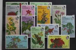 Gambia 345-357 ** Postfrisch Blumen Blüten Natur #ST400 - Gambie (1965-...)