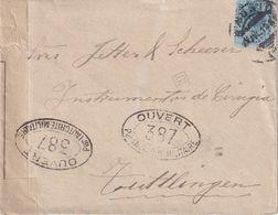 ESPAGNE 1919 LETTRE CENSUREE DE MADRID POUR TÜTTLINGEN - 1889-1931 Royaume: Alphonse XIII