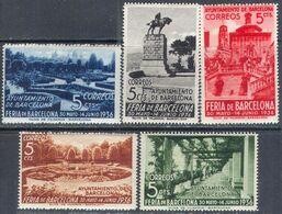 M4373 ✅ Fair Architecture Monuments Civil War Barcelona 1936 Spain 5v Set MNH ** 20ME - Emissions Nationalistes