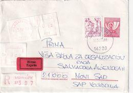 YOUGOSLAVIE 1986      ENTIER POSTAL/GANZSACHE/POSTAL STATIONARY LETTRE RECOMMANDEE EXPRES DE LAZAREVAC - Postal Stationery