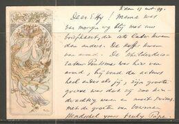 Carte P De 1899 ( Carte Postale Litho / Précurseur ) - Mucha, Alphonse
