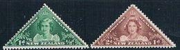 New Zealand B22-23 MLH Set Princess Elizabeth 1943 (HV0394) .. - Nouvelle-Zélande