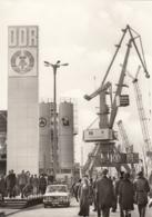 "Orig.-Foto (DDR-Wirtschaftsdienst) - Doppellenker-, Hafen-, Wippdrehkran Typ ""Albatros"" - Eberswalde"
