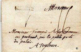 """Marque à Sec """"MENDE"""",belle Lettre Du Curé De S' ALBAN Le 4/7/1786. - 1701-1800: Precursori XVIII"""