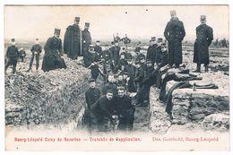 Bourg-Léopold - Camp De Beverloo - Tranchée De Vapplication 1906  (Geanimeerd) - Leopoldsburg