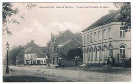 Bourg-Léopold - Camp De Beverloo - Vue Sur La Permanence De Police 1913  (Geanimeerd) - Leopoldsburg