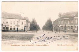 Bourg-Léopold - Camp De Beverloo - Route De La Caserne 1904  (Geanimeerd) - Leopoldsburg