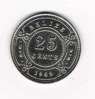 //   BELIZE   25 CENTS  1989 - Belize