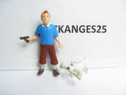 PAS KINDER FIGURINES TINTIN N° 1 TINTIN ET MILOU SERIE PLASTOY 2011 - Tintin
