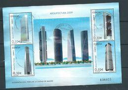 ESPAGNE SPANIEN SPAGNA SPAIN ESPAÑA 2009 ARCHITECTURE B TOWERS (MADRID) ED HB4507 YV BF178-4147-50 MI B186-4442-45 - 1931-Heute: 2. Rep. - ... Juan Carlos I