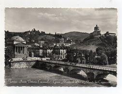 Torino - Ponte Vittorio Emanuele I°  - Gran Madre Di Dio E Monte Dei Cappuccini - Viaggiata Nel 1951 - (FDC23169) - Bridges