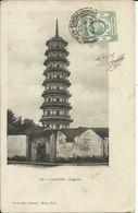 Canton , Pagoda , 1905 , Phto Mee Cheung ( Hong Kong ) - Cina