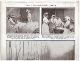 La Grande Guerre  14-18  BATELLERIE PENICHE    Peniche Ambulance - Old Paper