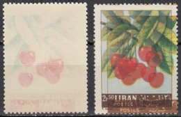 1962 LEBANON Cherry Fruits Error Double PRINTED MNH - Líbano