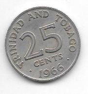 *trinidad & Tobago 25 Cents  1966 Km 4 Vf+ - Trinidad En Tobago