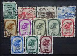 BELGIE   1938   Nr. 484 - 487 / 488 - 495    Gestempeld   CW 25,00 - Gebraucht