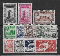 Fezzan N°43/53 - Neufs ** Sans Charnière - N°47 Dérisoire Adhérence - TB - Fezzan (1943-1951)