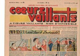 LOT DE 5 COEURS VAILLANTS N° 25 26 27 28 29 TINTIN TEMPLE AU SOLEIL  2 EUROS LE NUMERO ANNEE 1948 - Tintin
