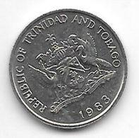 *trinidad & Tobago 25 Cents  1983 Km 32   Bu - Trinité & Tobago
