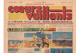 LOT DE 5 COEURS VAILLANTS N° 19 20  21 22 23 TINTIN TEMPLE AU SOLEIL  2 EUROS LE NUMERO - Tintin