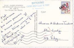 21111# COQ CARTE POSTALE Obl VEYNES HAUTES ALPES 1966 INCONNU CENTRE HOSPITALIER DE VICHY LE VAGUEMESTRE - Marcofilie (Brieven)