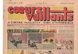 LOT DE 5 COEURS VAILLANTS N° 14 15 16 17 18 TINTIN TEMPLE AU SOLEIL  2 EUROS LE NUMERO - Tintin
