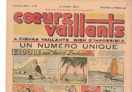 LOT DE 5 COEURS VAILLANTS N° 9 10 11 12 13 TINTIN TEMPLE AU SOLEIL  2 EUROS LE NUMERO - Tintin