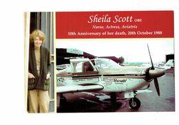 Cpm - SHEILA SCOTT - Nurse Actress Aviatrix - Aviatrice Avion Bendix Camanche 260 - Piper - Aviadores