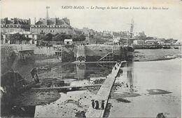 35 - SAINT MALO  LE PASSAGE  DE SAINT MALO A SAINT SEVRAN A MAREE BASSE - Saint Malo