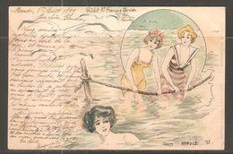 Carte P De 1899 ( Saint-Pair Sur Mer / Carte Postale Litho ) - Saint Pair Sur Mer